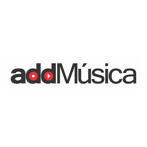 Logo Add Música Oribá Comunicação