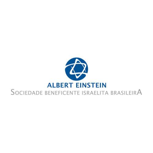 Logo Albert Einstein Oribá Comunicação