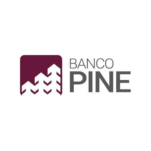 Logo Banco Pine Oribá Comunicação